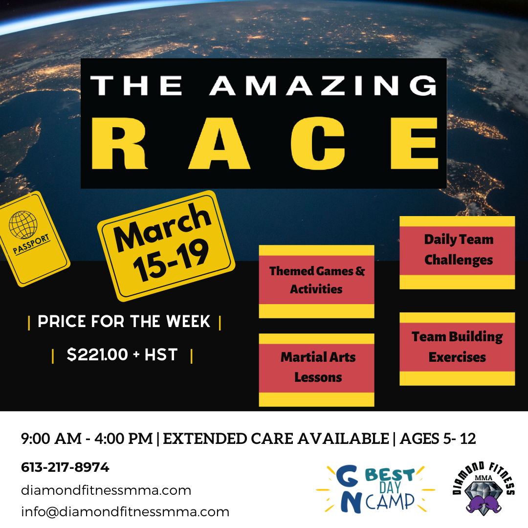 Kids Amazing Race for March 15-19
